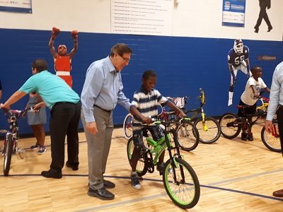 Burton Club Donates Bicycles