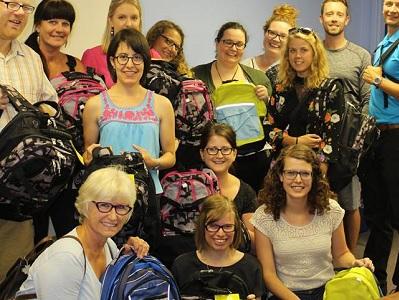 Stratford Rotaract donates Backpacks