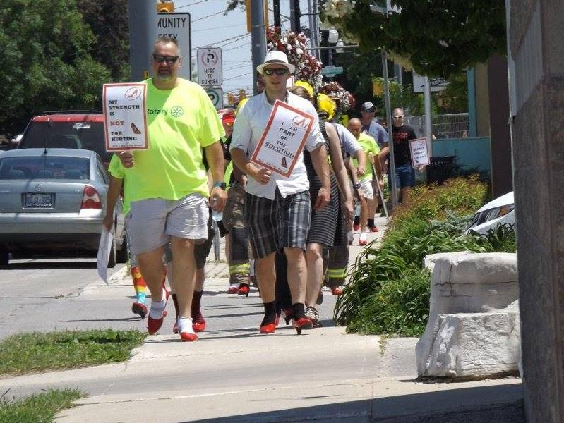 Walk A Mile In Her Shoes - Hanover Rotary