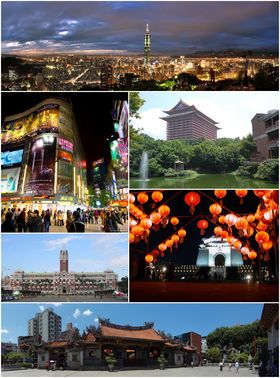 Taipei phot montage from Wikepdia