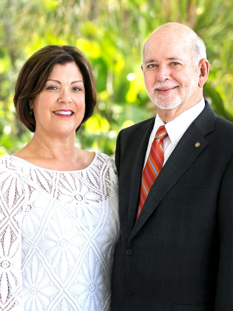 Picture of RI President Rassin and wife Esther
