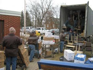 Rotary Gathers & Ships Containers of Medical Equipment