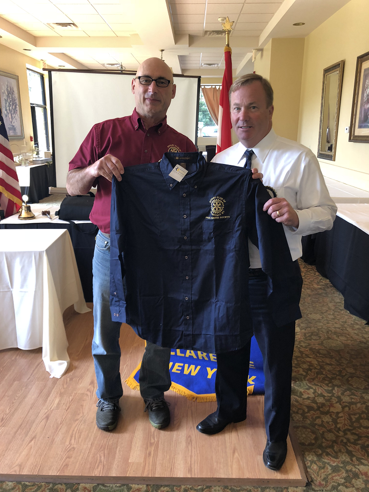 bc3be8a0b59 Pictured left Rotary Club of Clarence President and Paul Harris Society  (PHS) member Paul Justinger and member Joe King