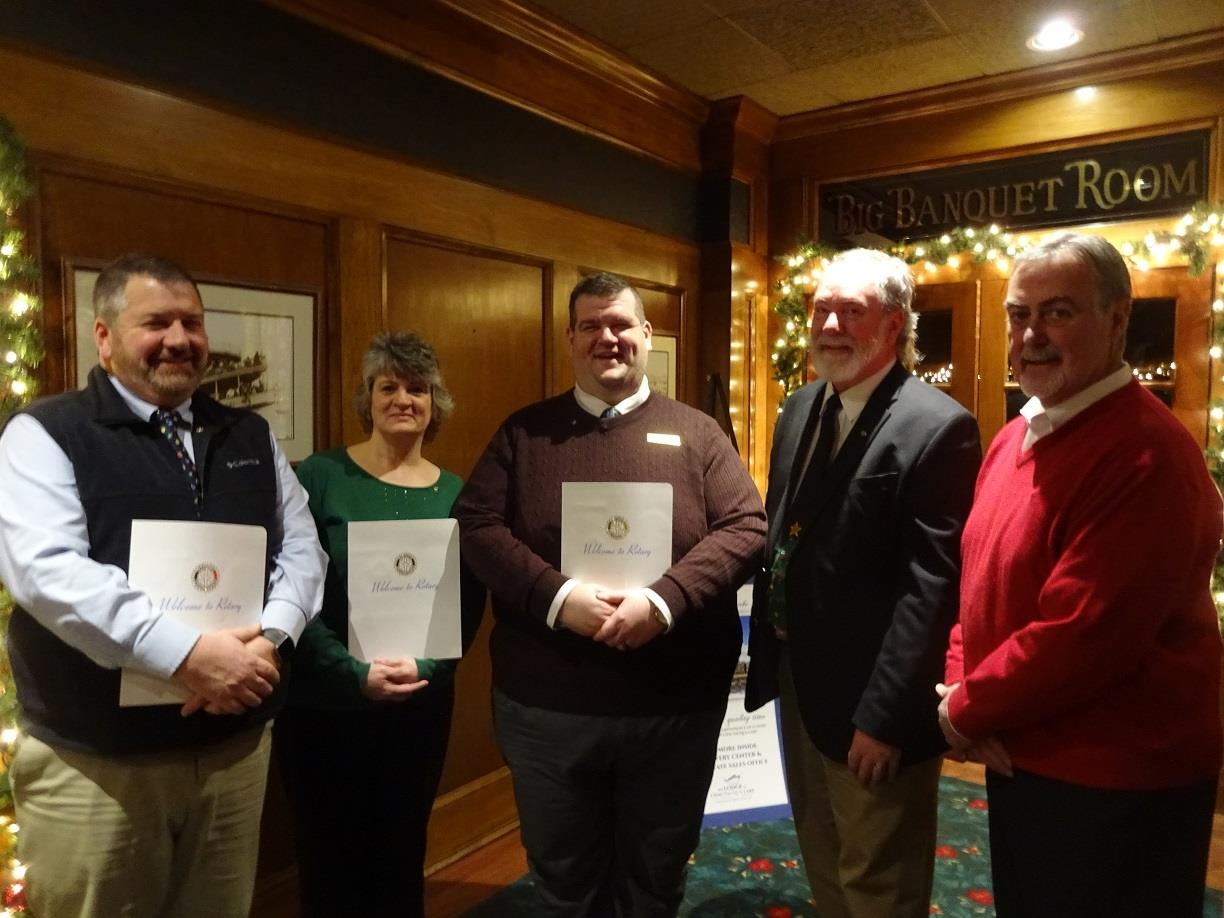 The Rotary Club of Westfield-Mayville proudly announces its three newest  members Edward Brooks 6868e07693ef