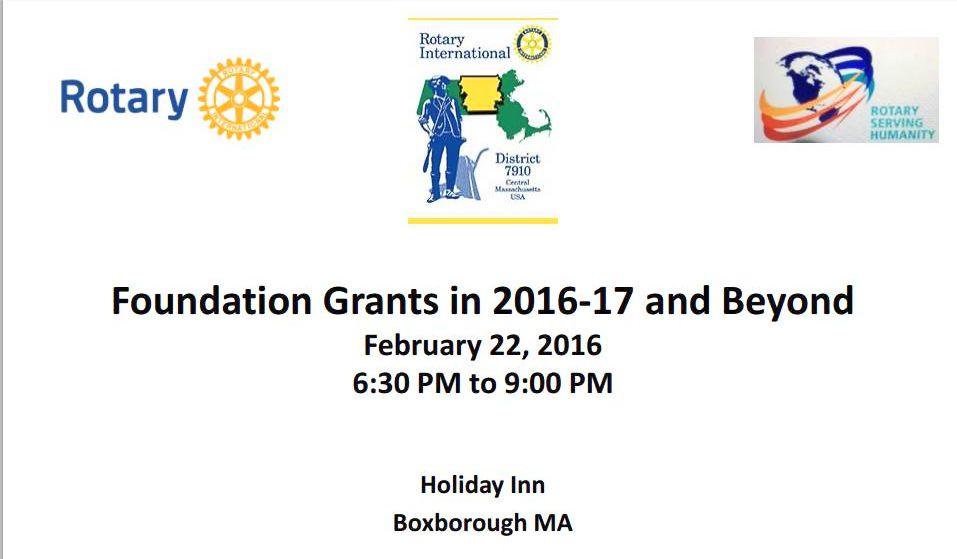 2016 Foundation Grants