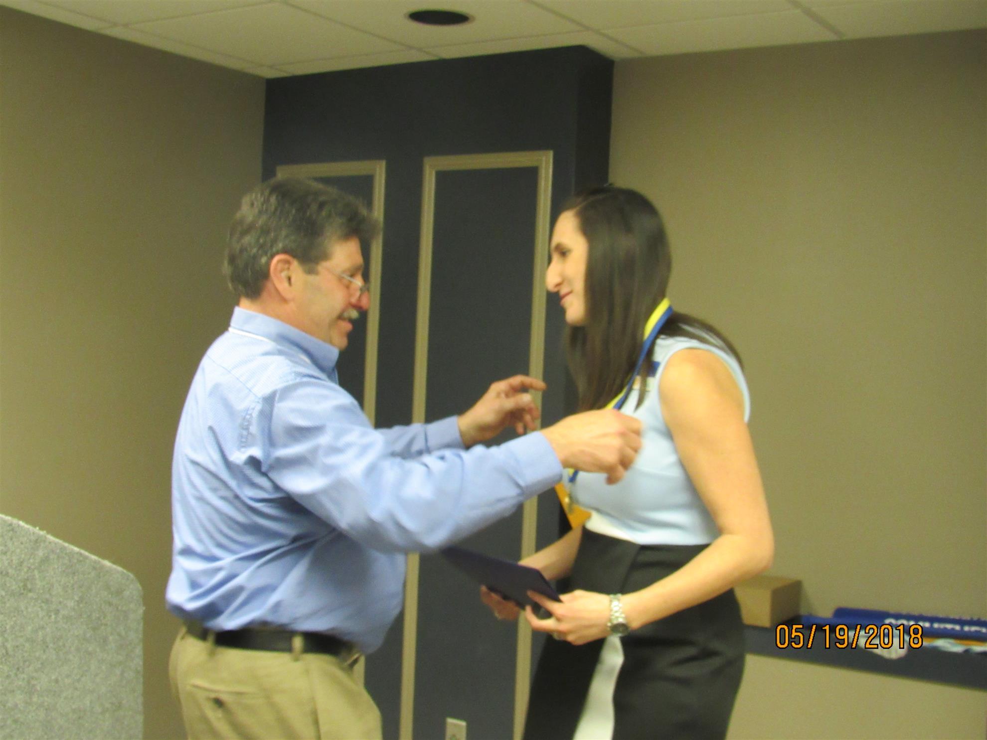 Tarah Warner - DG Steve shares his PH Medal