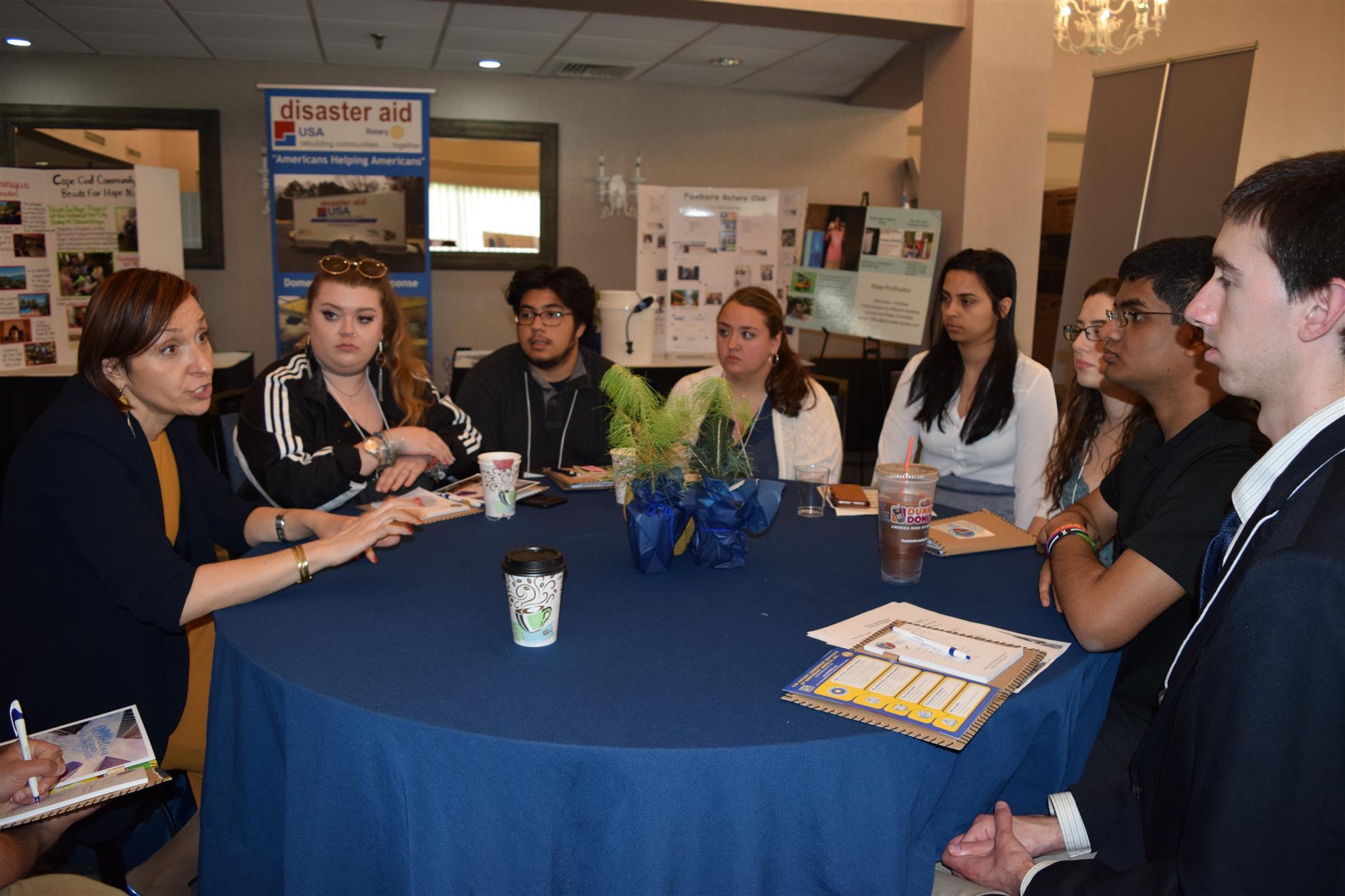 Francesca talks with Rotaracters