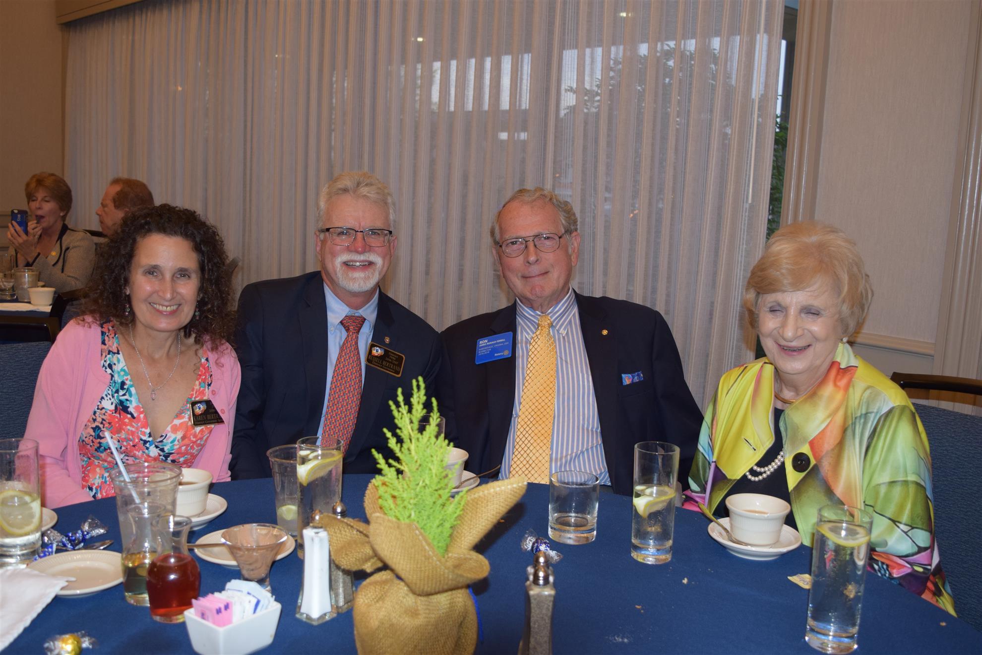 PDG Russell Bertrand & Karen, Pres. Rep. Ron & Elaine Ferrill