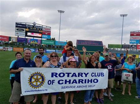 Chariho Club at District's night at the PawSox