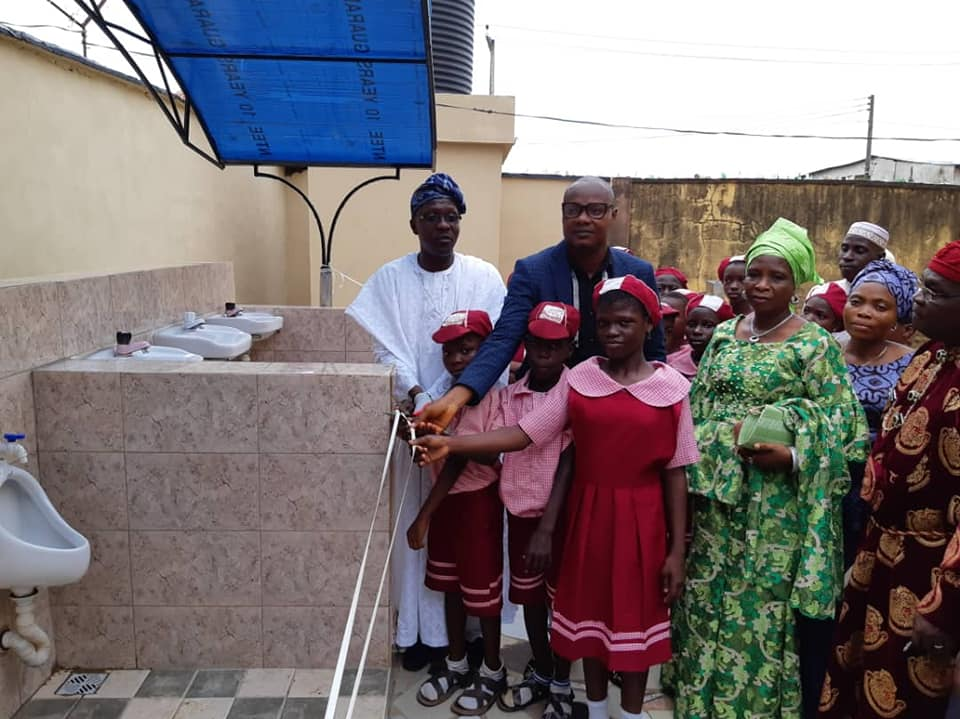 In a bid to fulfill one of Rotary's six areas of focus, Rotary Club of Egbe has provided a urinary system and chamber toilets for Community High School, Egbe in Lagos State
