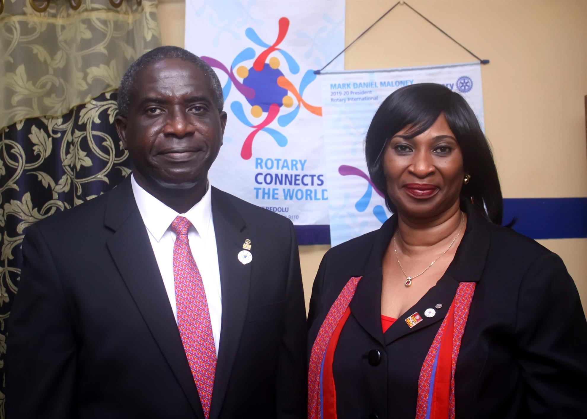 District Governor Jide Akeredolu and Spouse, Tokunbo