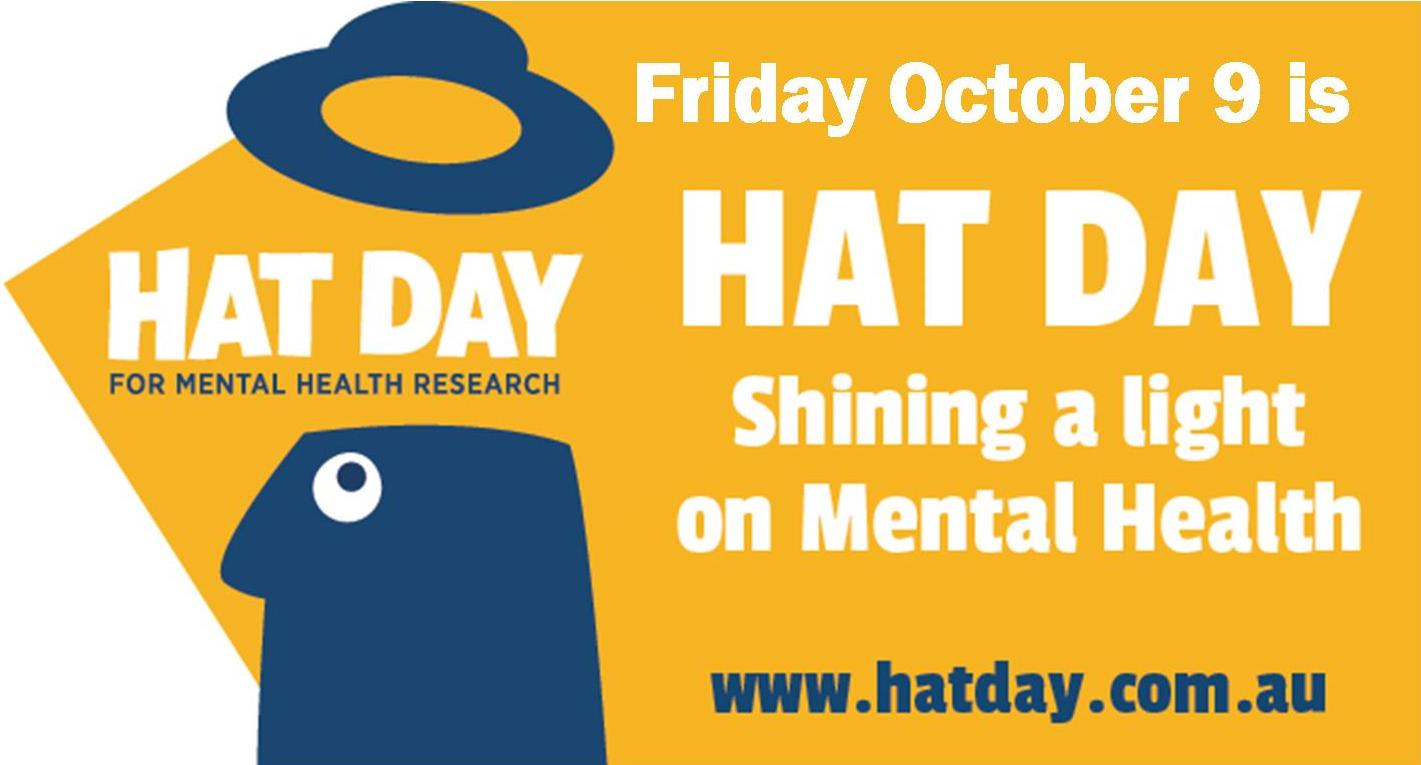 Hat Day Is Australian Rotary Healths National Fundraising And Awareness For Mental Health Research Celebrated Each Year On World