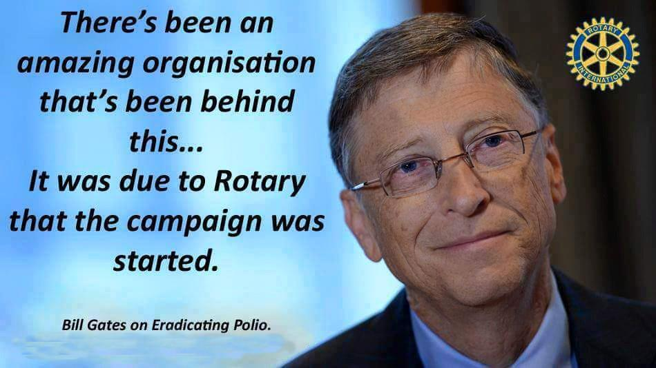 Bill Gates thanks Rotary for taking lead in fight against polio | Rotary  District 9500