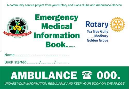 Emergency Medical Information Book