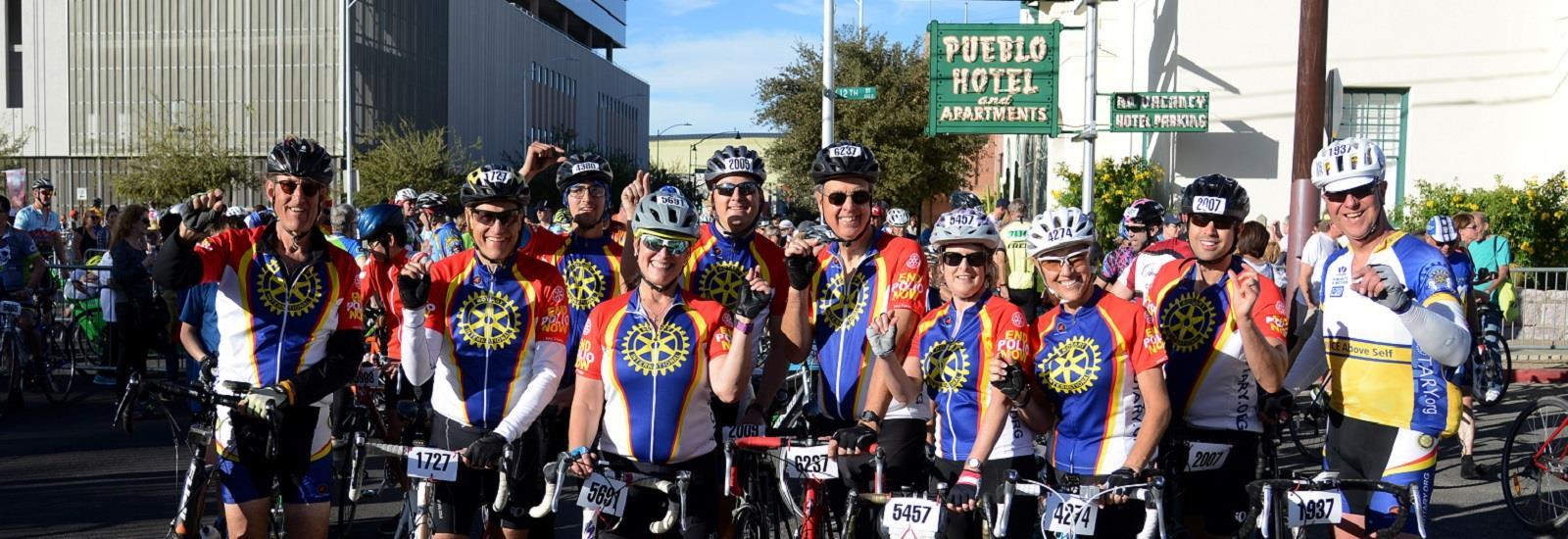 El Tour Tucson ROTARY TEAMWORK