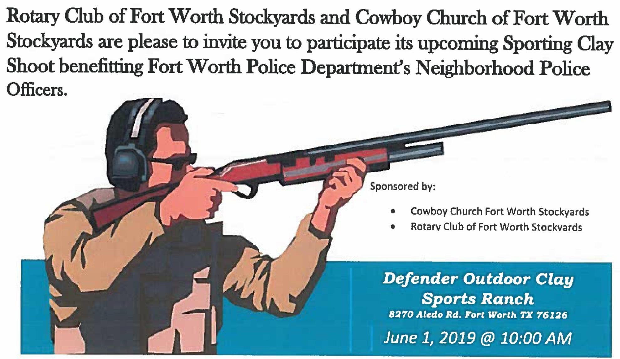 Rotary Club of Fort Wort Stockyards Announces June 1st Clay