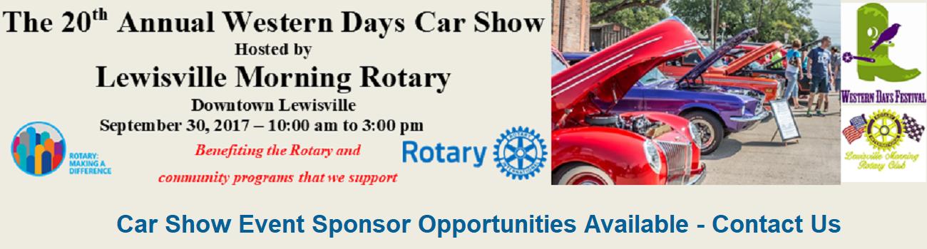 Lewisville Morning Rotary Announces Th Annual Car Show Fund Raiser - September car shows