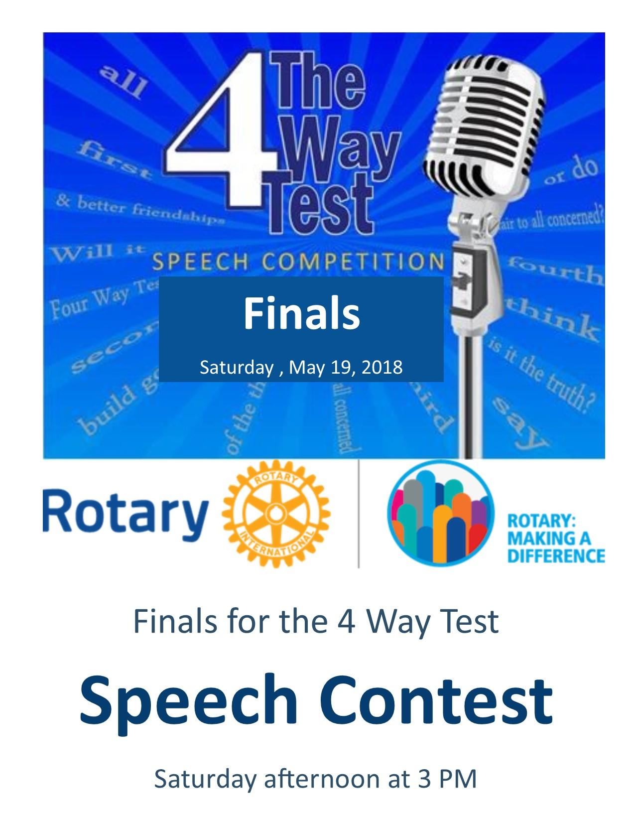 Going the Final Lap for the 2018 - 4 Way Test - Speech