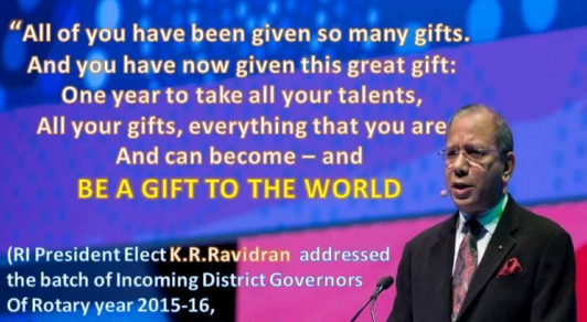 Be a Gift to the World | District 9820