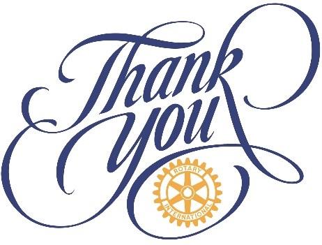 Thank you! | Rotary Club of Toronto Eglinton