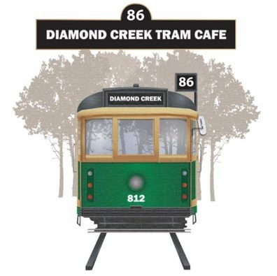 Image may contain: text that says '86 DIAMOND CREEK TRAM CAFE 86 DIAMOND CREEK 812'