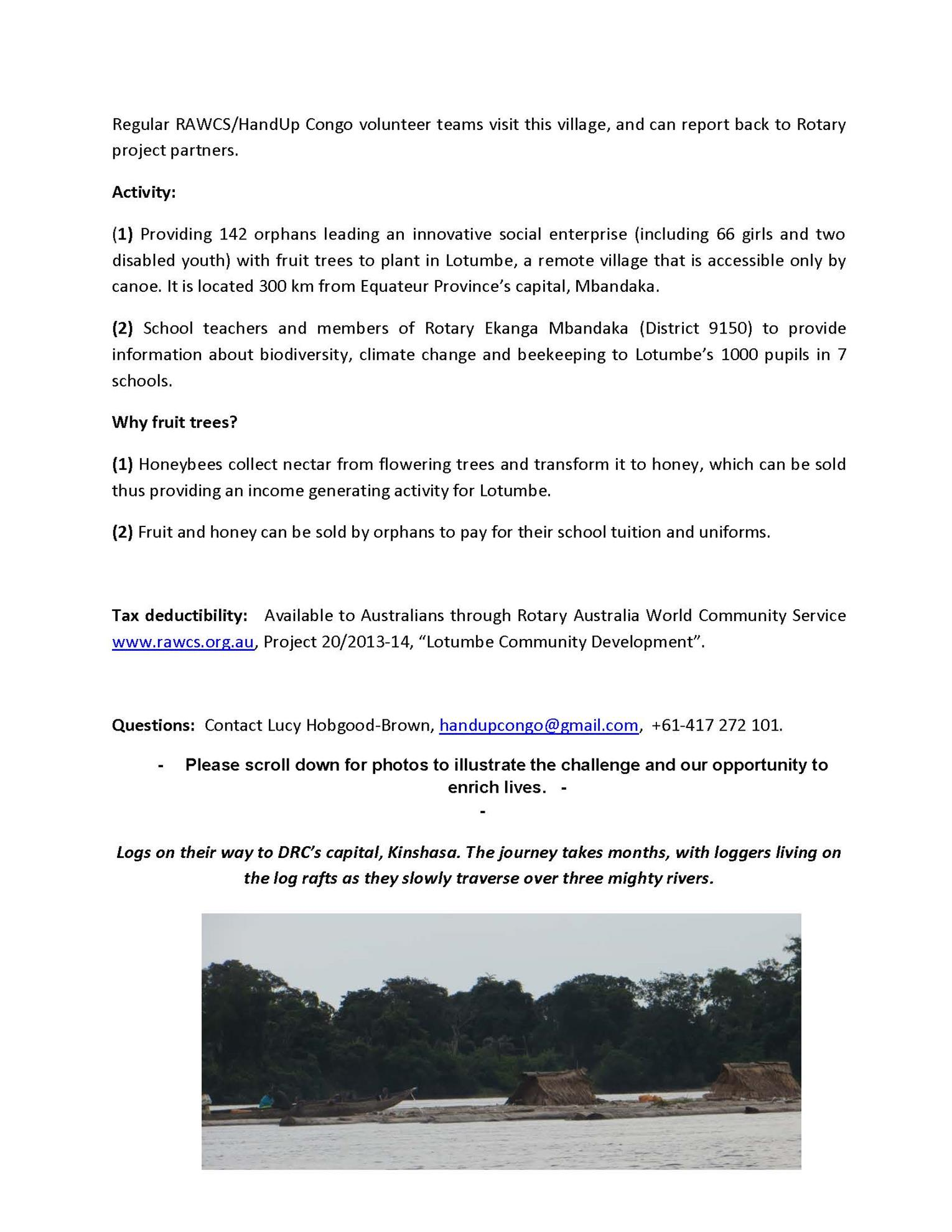 TREE PLANTING PROJECT IN CONGO | Rotary District 9685