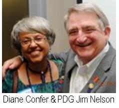 Diane Confer and PDG Jim Nelson