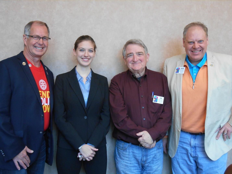 l-r: DG Tim Murphy, Grace Petrie, PDG Jim Nelson, GD-E Mark Hagstrom