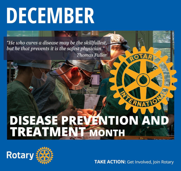 December is disease prevention and treatment month.