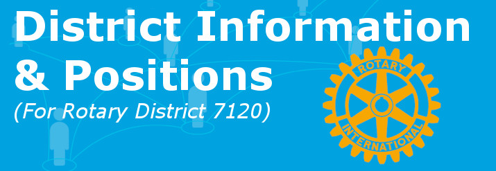 District Information and Positions. Rotary District 7120