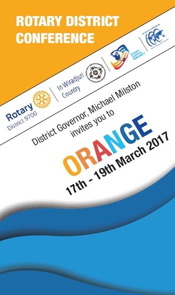 2017 District Conference March 17 19 Orange District
