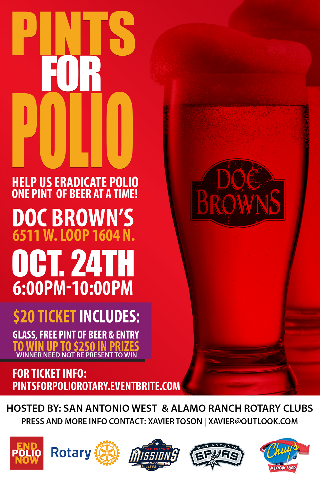 Join Us For Pints For Polio District 5840
