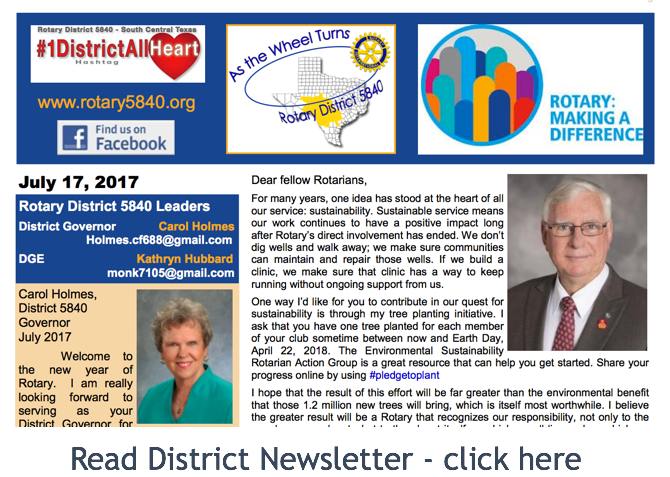 Click here to read district news letter...