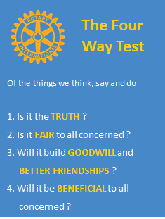 the four way test The four-way test was developed by rotarian herbert j taylor during the great depression in 1932, when his company club aluminum was facing bankruptcy taylor theorized that if he could encourage his employees to always do the right thing, club aluminum could perhaps win business.