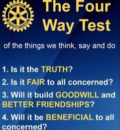 rotary essay four way test