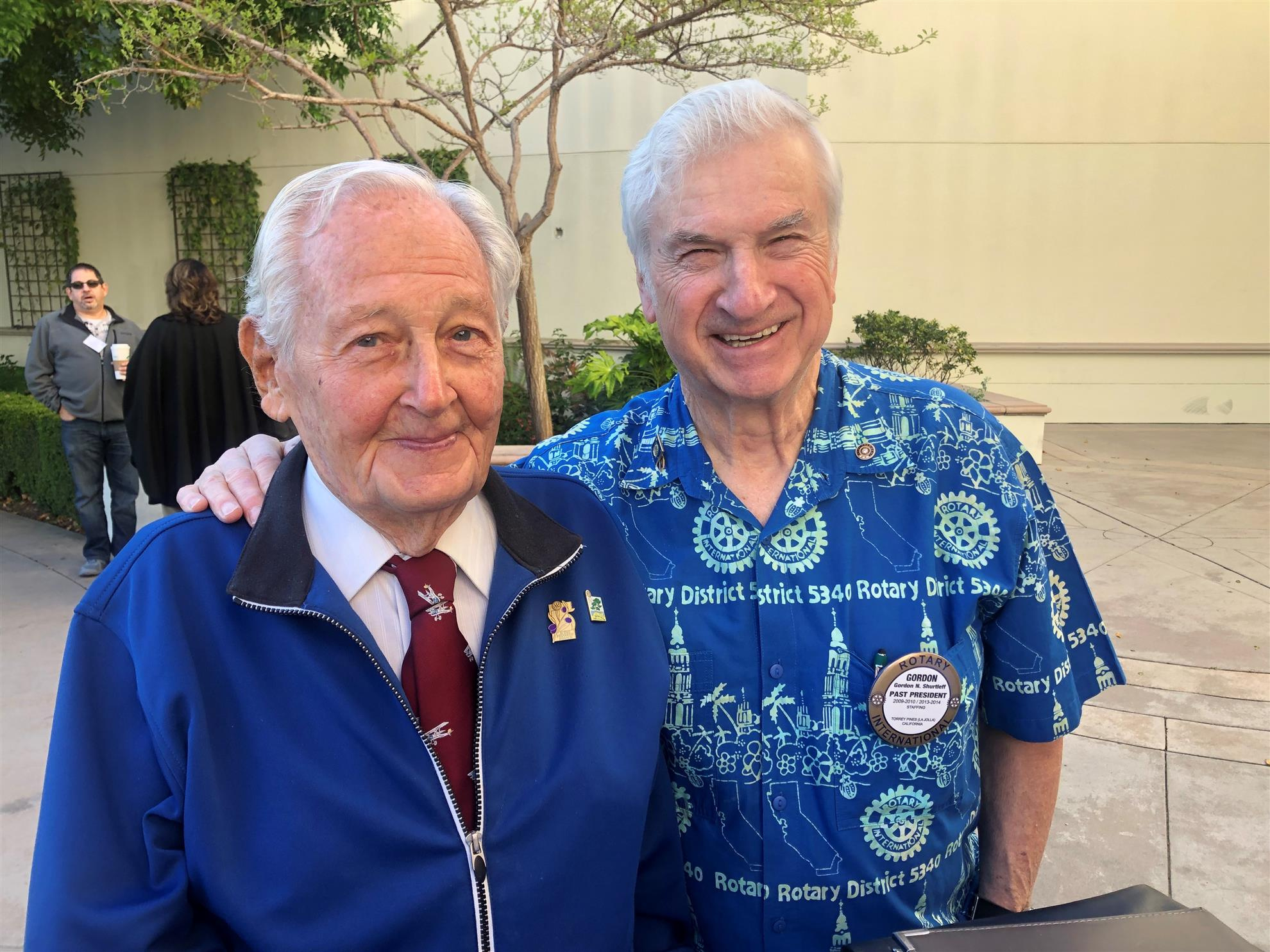 check out 23e0a 3830d Gordon Shurtleff (R) is looking forward to being recognized for 50 years of  perfect attendance at the Honolulu RI Convention in 2020!