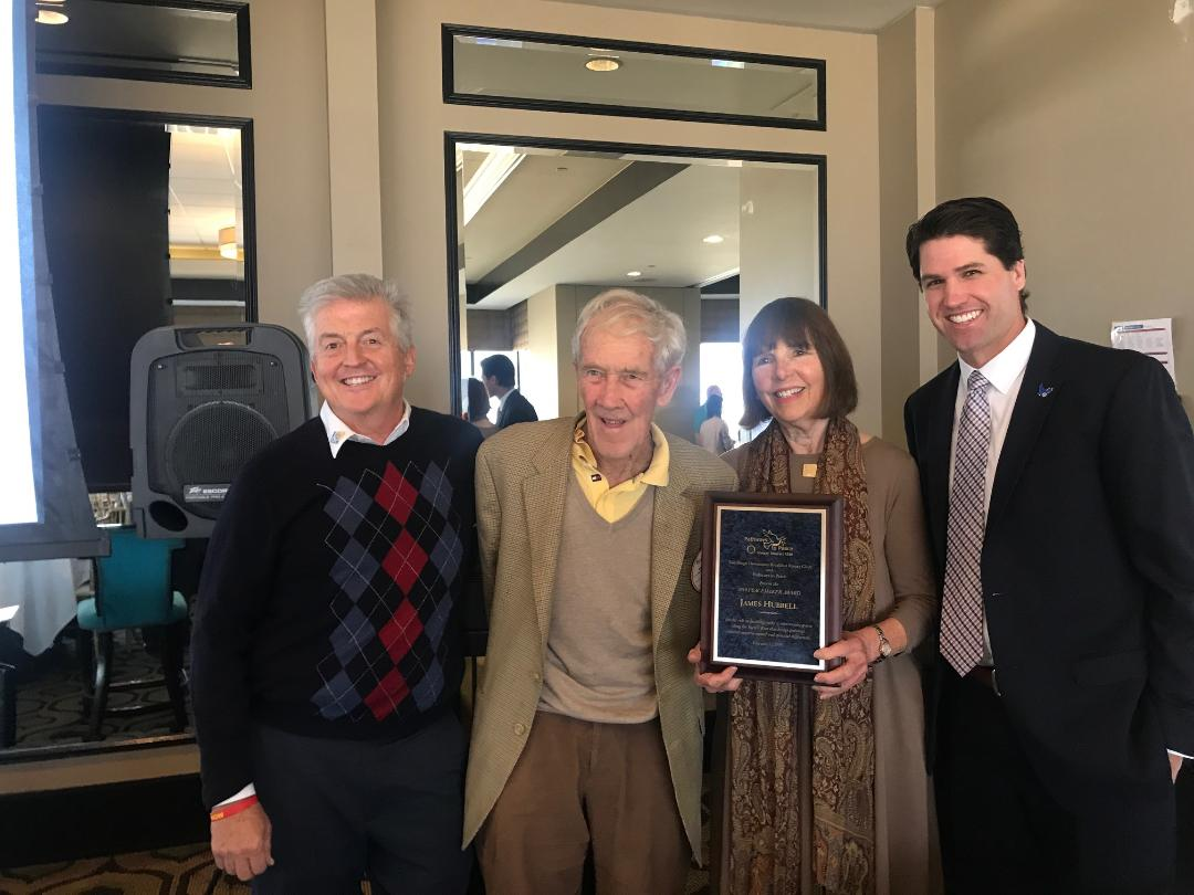new style c0169 5f09b On February 27, 2019, the San Diego Downtown Breakfast Rotary Club honored  famed local artist James T. Hubbell with the 2019 Peacemaker of the Year  Award.