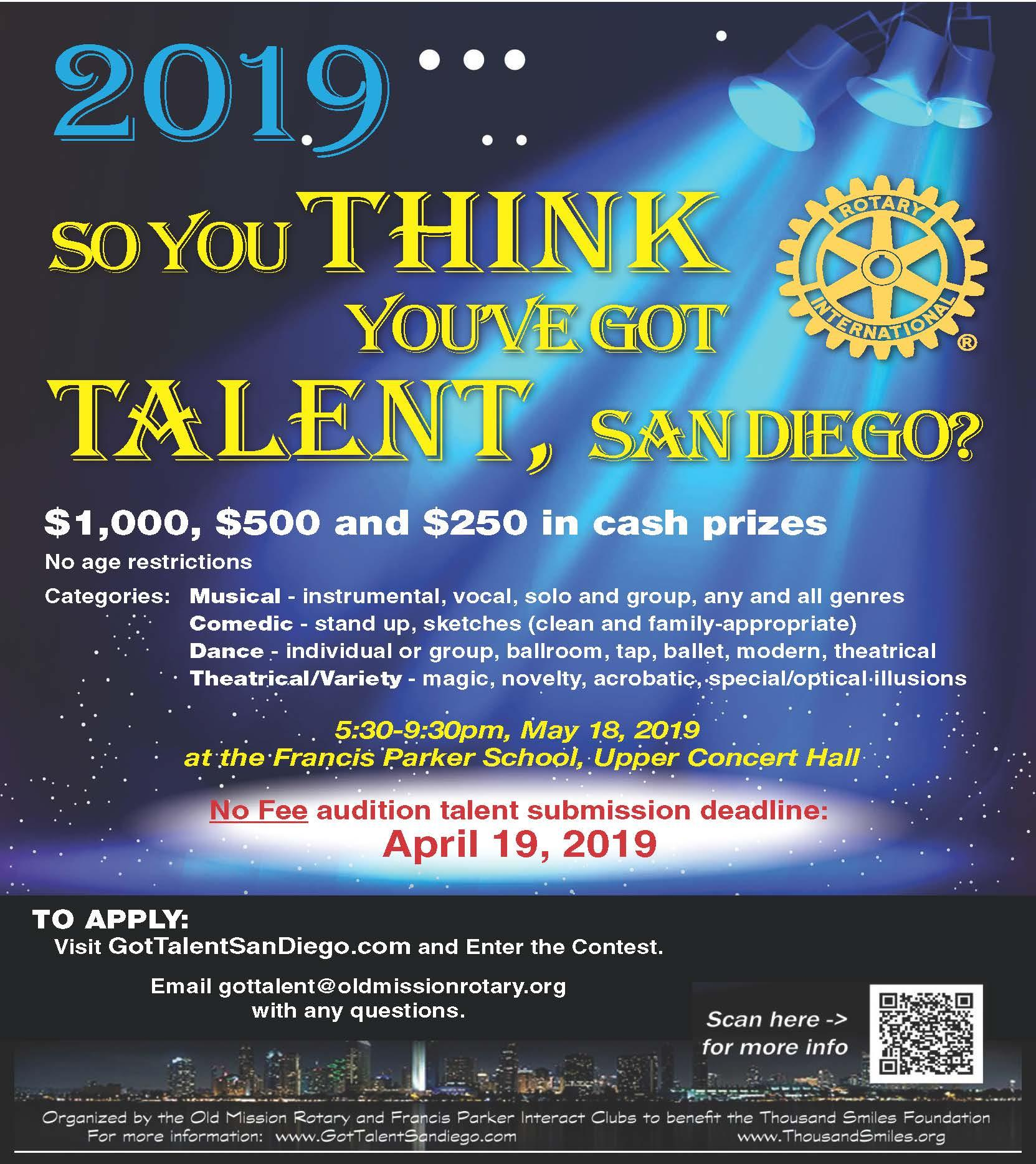 a4b730d6438b The Old Mission Rotary club is looking for talent for their
