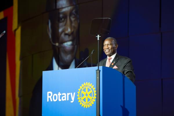 Rotary President-elect Sam F. Owori died Thursday, 13 July.