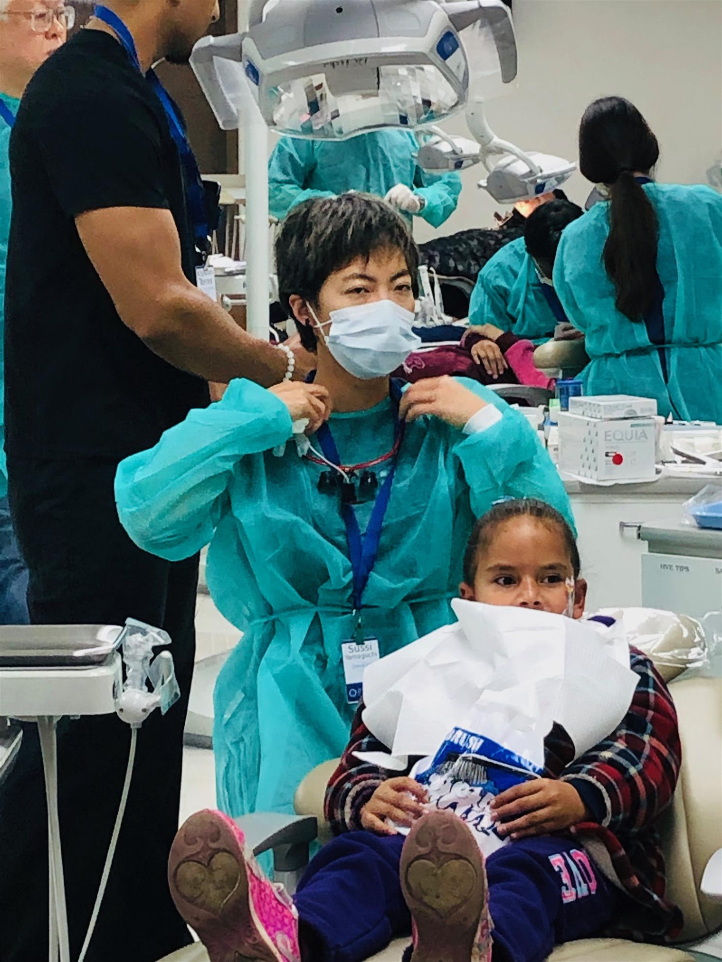 Volunteer DDS from Southern California treat a young patient