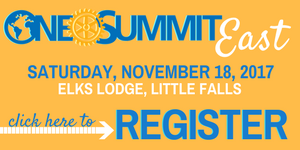 register for the november onerotary summit being held in little falls