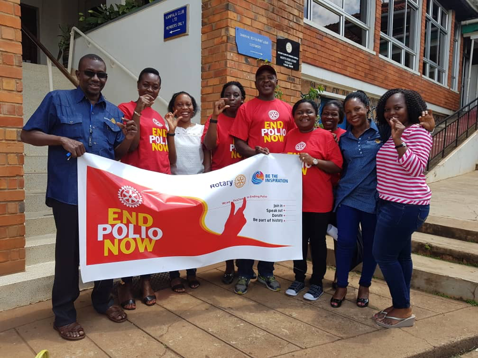 Polio Plus Committee Members together with officials from the Ministry of Health and World Health Organization (WHO), Kampala Capital City Authority (KCCA) with some Polio Officers after the meeting.