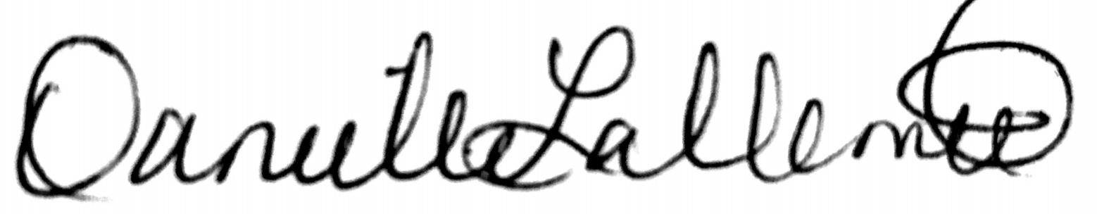 Danielle Lallement's Signature