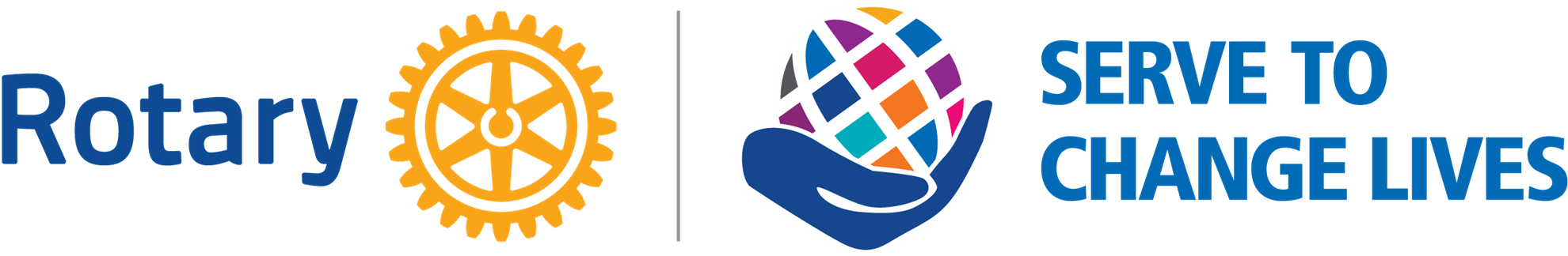 Rotary Logo and Serve to Change Lives logo