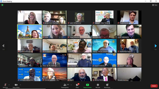 Just some of the members on the Zoom Call: