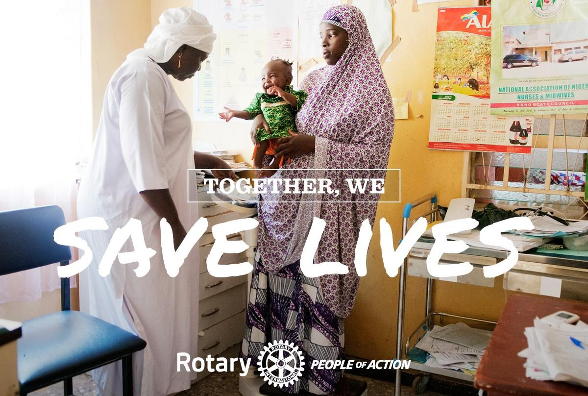 Image result for rotary people of action saves life