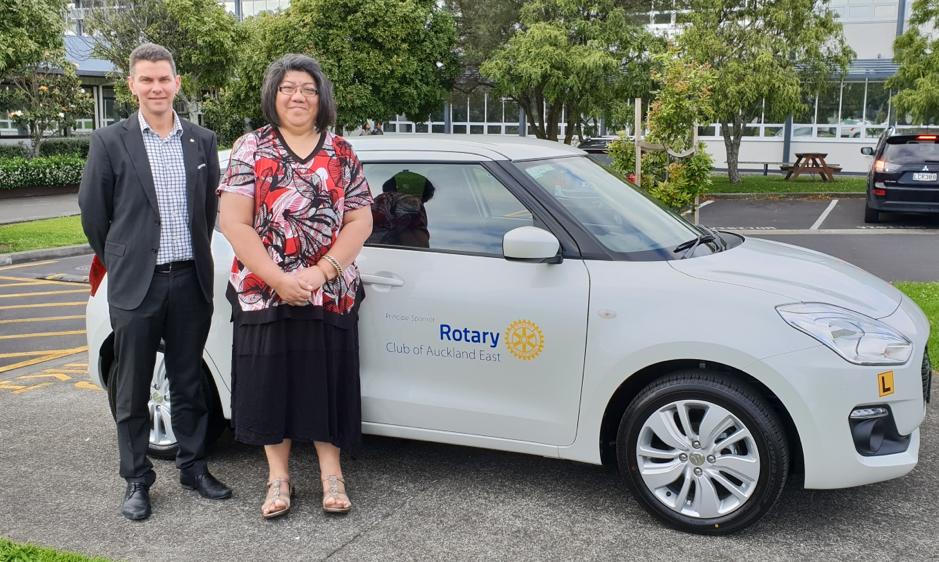 Auckland East provides car for school's Driver Training scheme