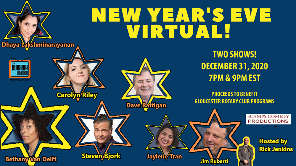 Gloucester Rotary Hosts New Years Eve Virtual Comedy Shows