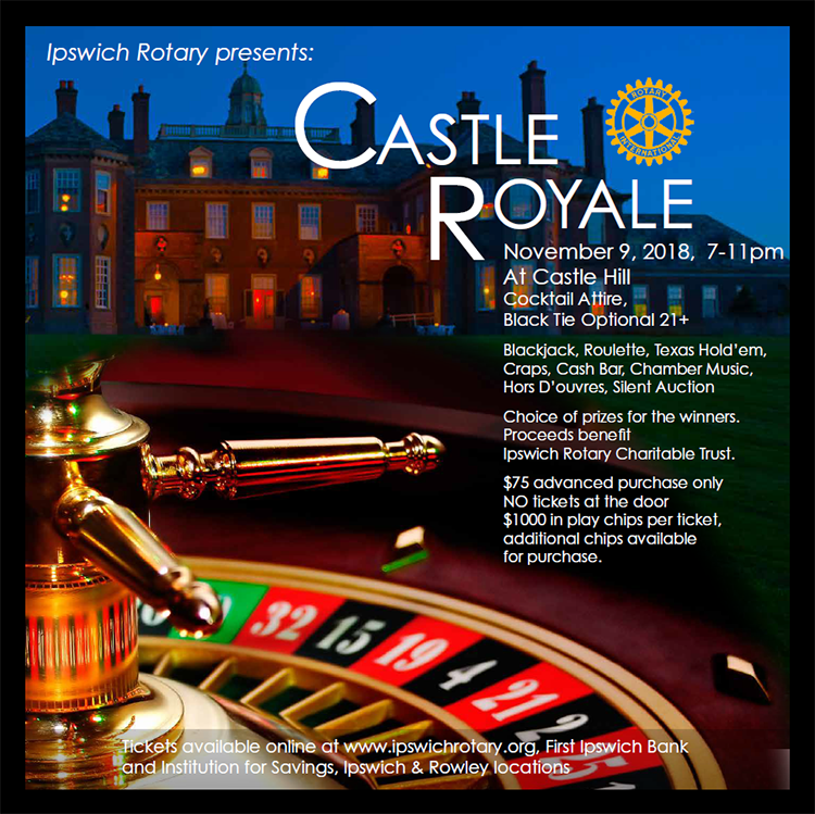 the ipswich rotary club presents castle royale on november 9 2018 7 11pm at castle hill