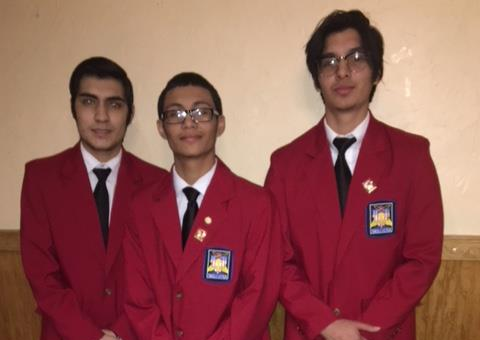 Lynn Vocational Technical Institute's SkillsUSA leadership team